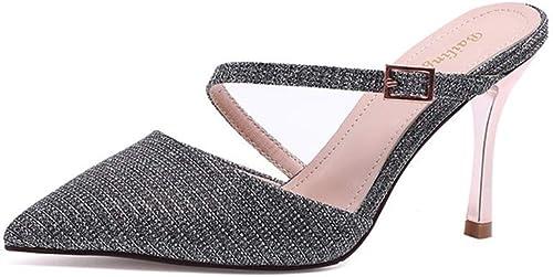 zapatos De Tacón Europa Y América, Microfibra De 8 Cm, Moda, Discoteca Sexy, Tacón De Aguja, Sandalias De Tacón Alto