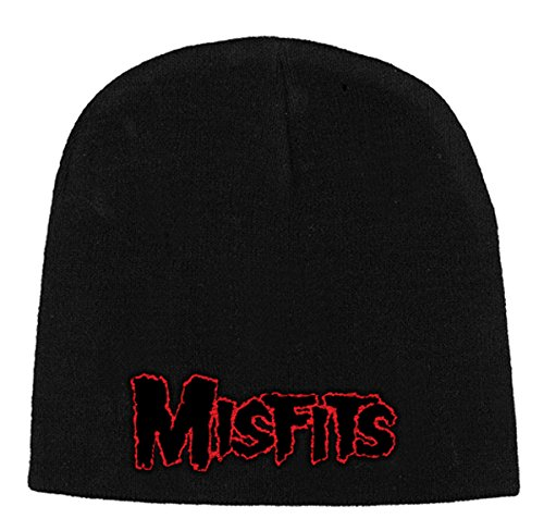 Misfits - Beanie Red Logo (in One Size)