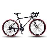 Ti-Fa 26 Pouces Vélo de Route, 21/27/30/33 Vitesse Vélos de Route, Double Disque de Frein, Cadre en Alliage d'aluminium, Route de vélos de Course, et Les Femmes des Hommes Adultes Seulement,33 Speed
