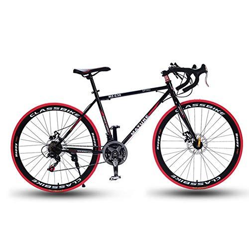 Ti-Fa 26 Pouces Vélo de Route, 21/27/30/33 Vitesse Vélos de Route, Double Disque de Frein, Cadre en Alliage d'aluminium, Route de vélos de Course, et Les Femmes des Hommes Adultes Seulement,21 Speed