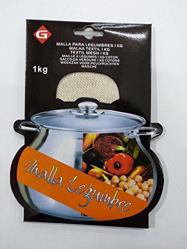 Gerimport, Malla Textil de Cocción, Bolsa para Legumbres, Especial Garbanzos, 1 Kg