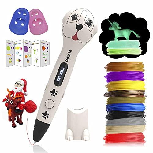 3D Stifte für Kinder mit PLA Filament 12 Farben 【Ursprünglicher Entwurf】 PLA Farben 120 Fuß und 250 Schablone eBook für für Anfänger, Erwachsene Kunsthandwerk Modell DIY
