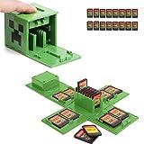 Funda para tarjeta de juego, soporte para tarjetas de juegos Nintendo Switch con 16 ranuras para tarjetas, regalo divertido para niños (verde Minecraft)