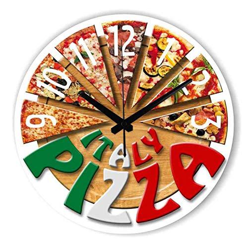Fabseller rotondo muto salotto minimalista orologio da parete pizza cucina creativa orologio orologio da parete