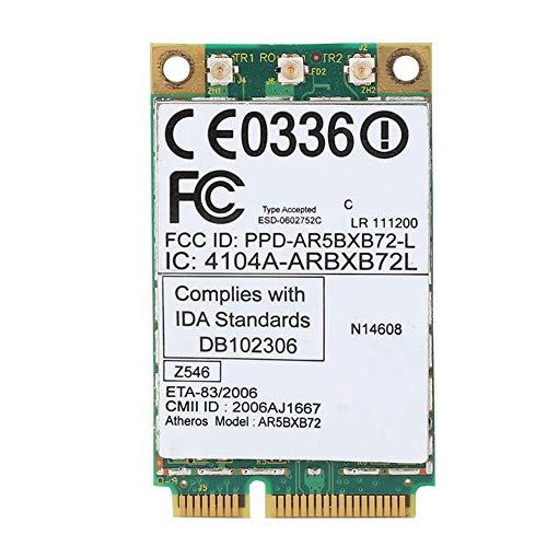 ASHATA Tarjeta de Red de Banda Dual, Tarjeta de Red inalámbrica 2.4G y 5.8G AR5BXB72 300M Mini-PCI-E Tarjeta de Red de Banda Dual para Lenovo/IBM T60 / T61 42T0825
