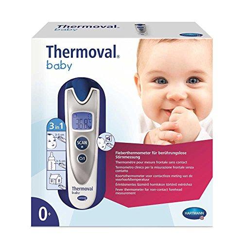 Hartmann Thermoval® Baby Infrarot-thermometer Fieber-thermometer, kontaktlos, 3 Sek.