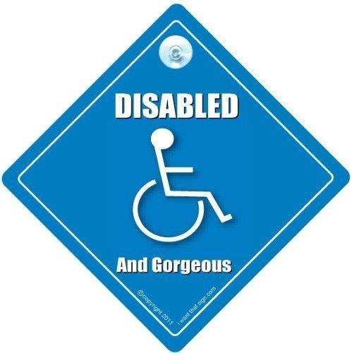 Behinderte und wunderschöne Auto-Schild Behinderten-Schild Behinderten-Treiber-Schild Behinderten-Schild Schild