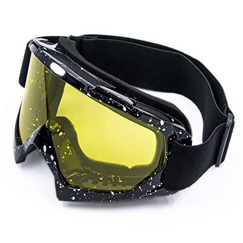 Cynemo Gafas de equitación anti viento polvo UV Dirtbike Mx ATV Scotter Off Road Motocross gafas gafas -  Amarillo -  color