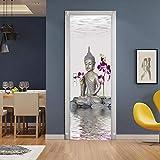 3D Mural puerta Fondo pantalla cristal poster paisaje armario Decoración Hogar Vinilo Pequeña...