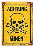 Achtung Minen Blechschilder Vintage Metall Poster Retro