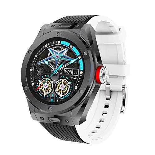 QNMM Reloj Inteligente MV58, IP68 Impermeable Llamada Bluetooth Rastreador de Salud con Monitor de Frecuencia Cardíaca Reloj Inteligente Deportivo, para Mujeres Y Hombres