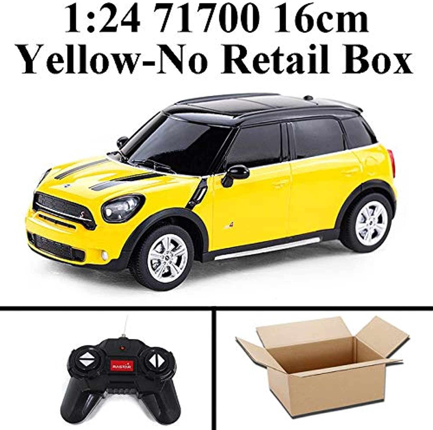 Generic Rastar 1 24 Electric Mini RC Cars Collection Remote Control Toys Radio Controlled Cars Toys for Boys Kids Gifts Girls Toys 2999 71700 Yellow No Box