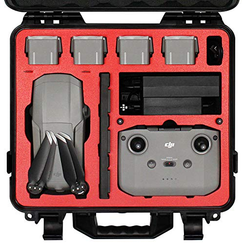 Symik Waterproof Hard Carrying Case for DJI Mavic Air 2 Drone/Fly More Combo; Rugged Professional Case with Complete Protection