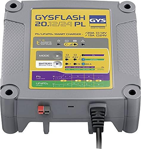 Cargador de batería de Plomo/LiFePO4 12V/24V 20A de 7 a 240Ah GYSFLASH 20.12/24PL