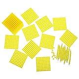 SM SunniMix 1 Set Montessori Material Matemático Niños Sistema Decimal Perlas...