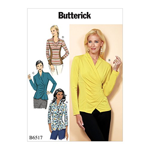 Butterick Patterns 6517 A5 Misses Top Schnittmuster, Tissue, mehrfarbig, 17 x 0,5 x 22 cm