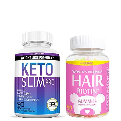Vegepower Keto Slim Pro with Hair Biotin Vitamin Gummies