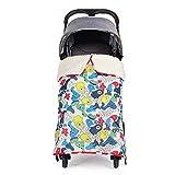 Manta de silla de paseo gruesa para bebé con clips y hebilla de...
