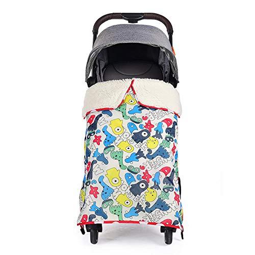 Manta de silla de paseo gruesa para bebé con clips y hebilla de seguridad Manta de carro de invierno a prueba de viento a prueba de viento Universal, reposapiés Silla de paseo para coche Cubierta de
