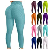 Honeycomb Yoga-Hose Damen Sport-Leggings Normallack Gym Fitness Jogginghose Tummy Control/Anti-Cellulite/abnehmen Geraffte Leggins Trainingshose