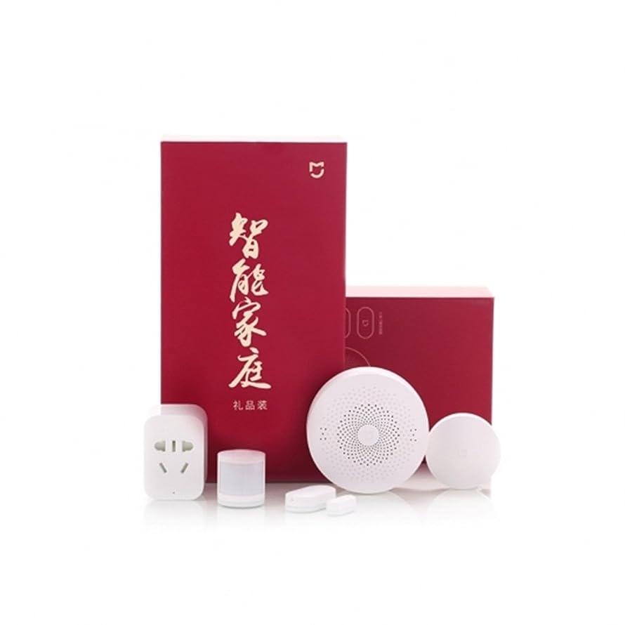 Xiaomi Mijia 5 in 1 Smart Home Security Kit Multifunction Gateway/Smart Socket/Wireless Switch/Human Body Sensor/Window and Door Sensor