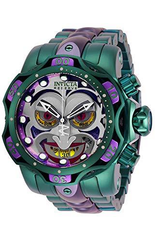 Invicta Men's DC Comics Joker 52.5mm Stainless Steel Chronograph Quartz Watch, Green (Model: 30124)