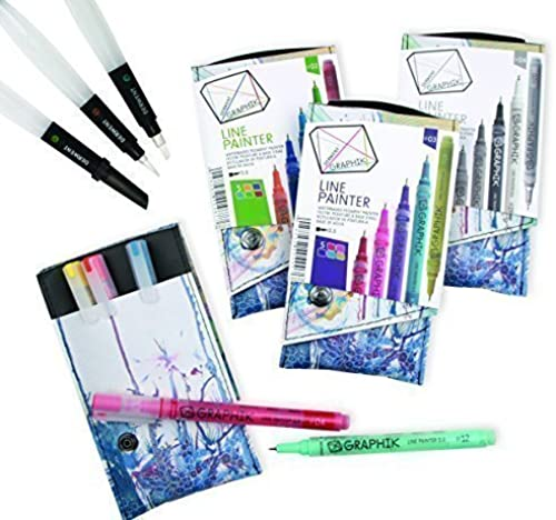 Derwent All 4 Graphik Line Painter Sets 20 Pens in Total + 3 Water Brushes