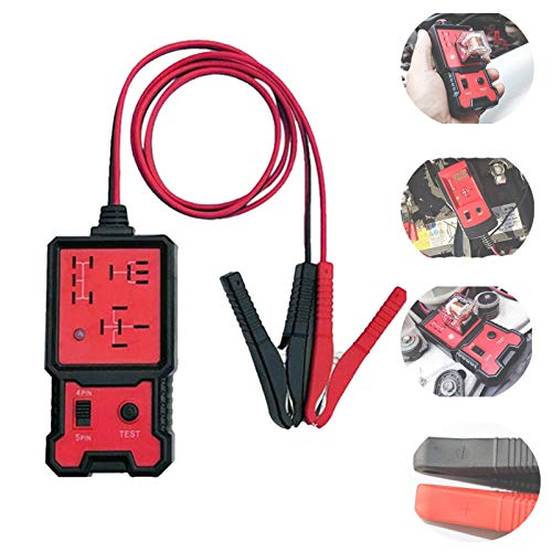 Universal 12v Electronic Automotive Relay Tester, Automotive Tools and Equipment Diagnostic Test and Measurement Tools for Auto Battery Checker Repairing