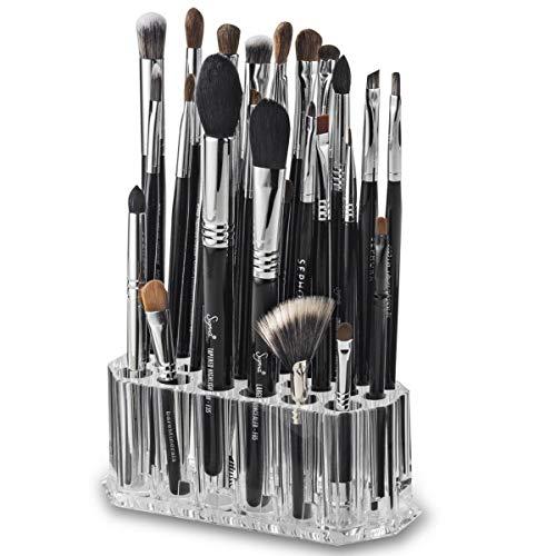Porte Pinceaux Maquillage, Rangement en Acrylique cosmétiques Organisateur pour Pinceaux à Maquillage, Support Eye/Lip Liner Organisateur & Beauty Care 26 Un Espace de Rangement