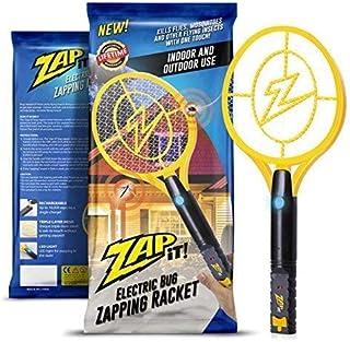 ZAP IT!! Exterminador eléctrico de insectos - Raqueta eléctrica exterminadora de insectos, mata...