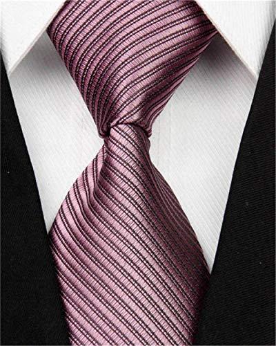 CCYUANG Krawatte Herren Herren Wide Silk Tie Striped Solid 10Cm Herren Business Hochzeitsanzug Fliege Schwarz Weiß Blau Men-Nt0100_Russian_Federation
