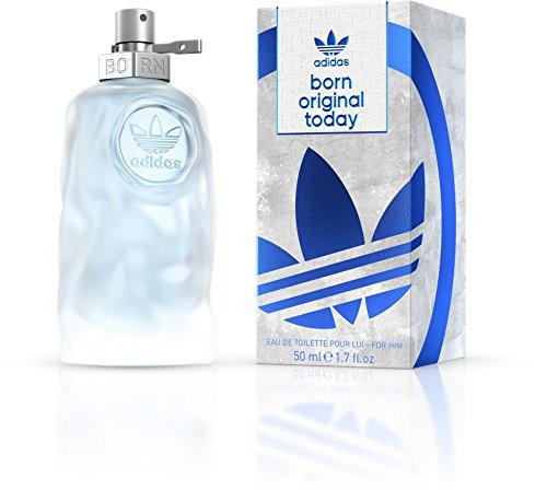 adidas Born Original Today Eau de Toilette – Aromatisch-frisches Herren Parfüm für jeden Tag mit schwungvoll kontrastierenden Düften – 1 x 50 ml