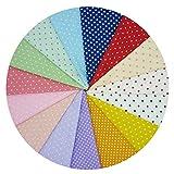 15 unidades grandes de 40 cm x 50 cm de puntos patrón de tela de algodón paquetes cuadrados para costura y patchwork de costura