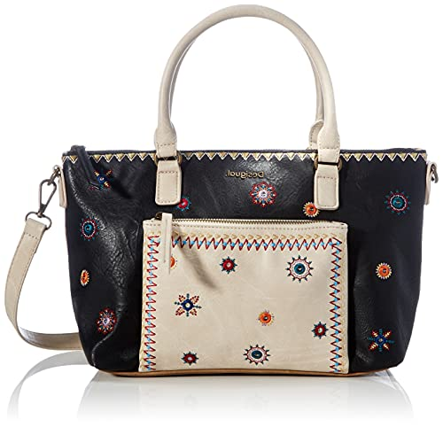 Desigual PU Hand Bag, Borsa a Mano. Donna, Marrone, U