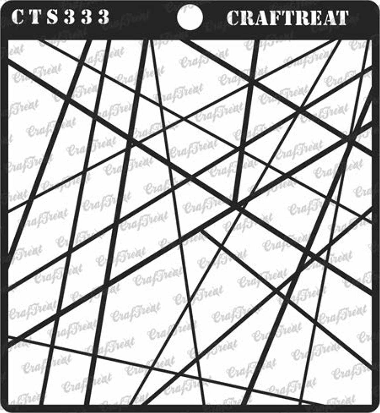 CrafTreat Stencil - Asymmetrical Lines | Reusable Painting Template for Journal, Notebook, Home Decor, Crafting, DIY Albums, Scrapbook and Printing on Paper, Floor, Wall, Tile, Fabric, Wood 6