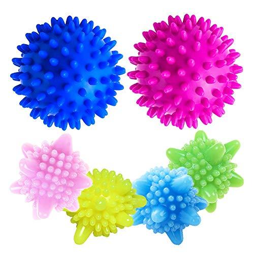 Balles de Séchage 6PCS sèche-Linge balles pour Lave-Linge/Boule de Lavage Boules réutilisables de Lavage de Machine à Laver pour Le Nettoyage des vêtements - aléatoire Combinaison de Couleurs