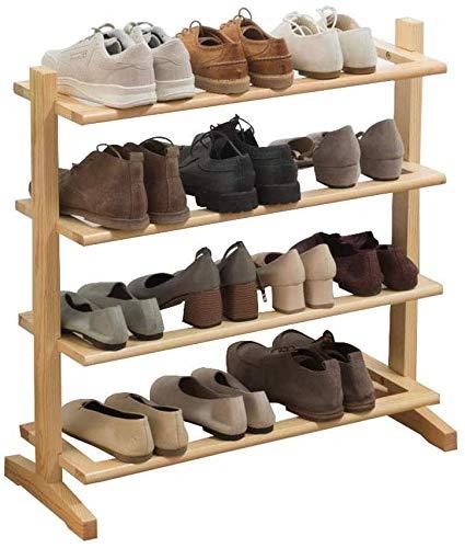 Zapato Mueble Mueble Multi-Capa Simple Zapato Zapato Estante de almacenamiento de madera Montaje simple Material de protección ambiental Sostiene 12-16 pares de zapatos Home Shoe Gabinete Ideal para e