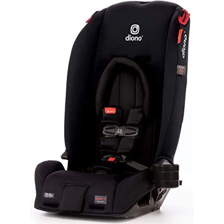 Diono Radian 3RX 3-in-1 Rear and Forward Facing Convertible Car Seat, Head Support Infant Insert, 10 Years 1 Car Seat Ultimate Safety and Protection, Slim Design - Fits 3 Across, Jet Black