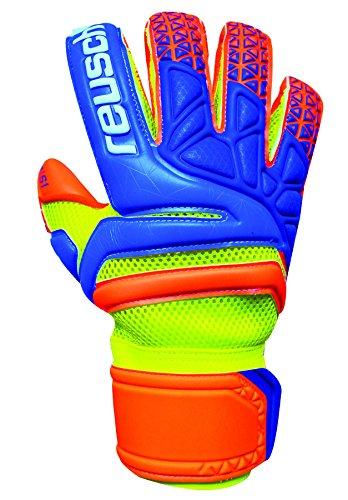 Reusch Soccer Prisma Prime S1 Evolution Finger Support Goalkeeper Gloves, Yellow, Size 7