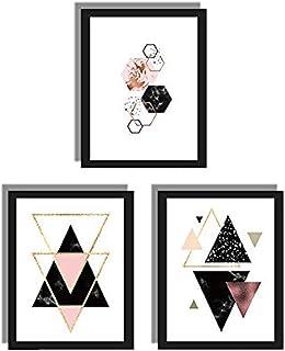 HPiano 3 pcs/Set Decoración nórdica Arte geométrico de la Pared Lienzo Pintura Carteles decoración Arte de la Lona Imágenes de la Pared (sin Marco) 30 cm x 40 cm, 3 Patrones Diferentes