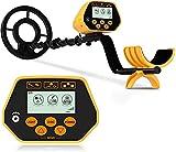 Sakobs - Rilevatore di metalli, rilevatore di metalli elettrici per bambini e adulti, 8,6 pollici, disco impermeabile con schermo LCD e luce LED