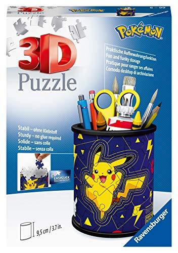 Ravensburger 3D Puzzle 11257 - Utensilo Pokémon Pikachu - 54 Teile - Stiftehalter für Pokémon Fans ab 6 Jahren, Schreibtisch-Organizer für Kinder