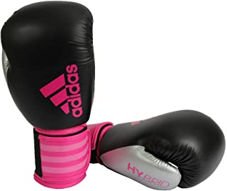 Luva de Boxe Adidas Hybrid 100 Dynamic Fit Shock Pink/Preta/Silver 10 Oz