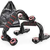 RSV Push Up Bars fixdono Strength Training Workout Stands with Ergonomic Push-up Bracket Board with Non-Slip Sturdy Structure Portable for Home Fitness Training(Red)