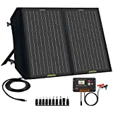 ECO-WORTHY 60W Foldable Solar Panel Charger for Portable Power Statio n& RV Battery,Solar Charger for Jackery/Roackpals Generator, with 20A Controller for SLA/AGM/Lithium Deep Cycle Battery RV Camping