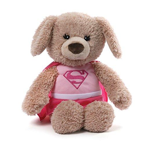 GUND DC Comics Supergirl Yvette Dog Stuffed Animal Plush, Pink, 12'