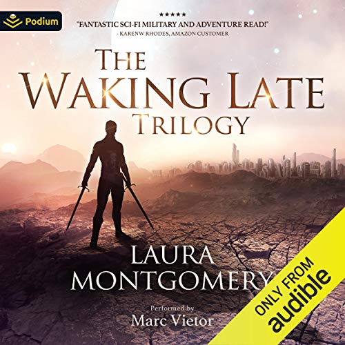 The Waking Late Trilogy audiobook cover art