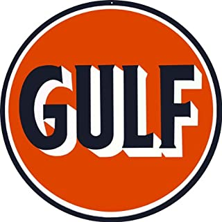 Victory Vintage Signs Gulf Gasoline Motor Oil Station Reproduction Sign