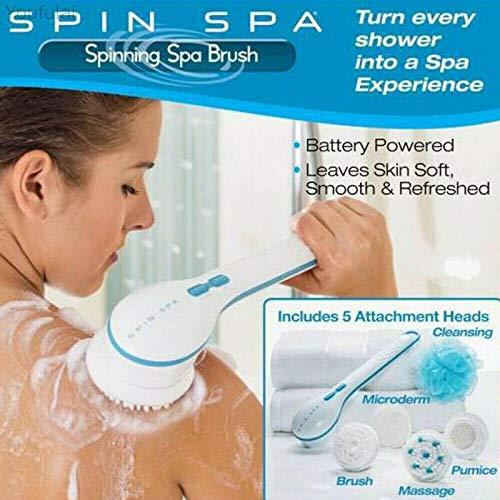 Cepillo de masaje eléctrico 5 en 1, para baño, ducha, spa, impermeable, para el cuerpo y el cuerpo