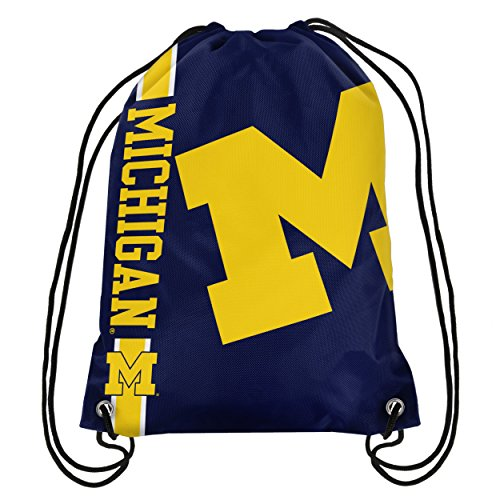 Michigan Wolverines NCAA Big Logo Drawstring Backpack
